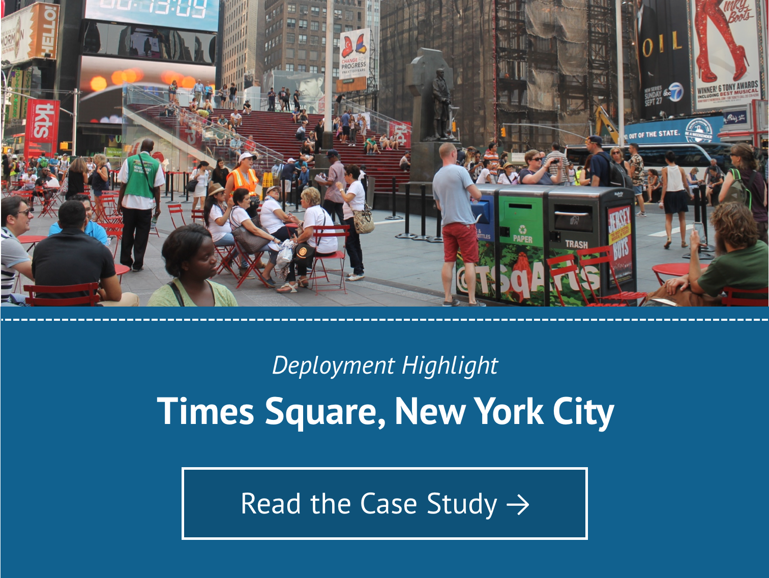 Deployment Highlight for Times Square New York City - Read the Case Study