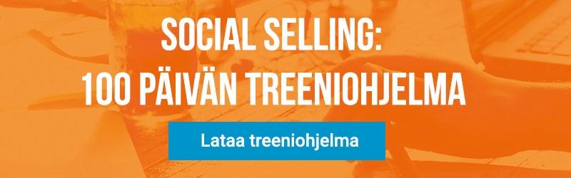 Lataa 100 päivän Social Selling treeniohjelma