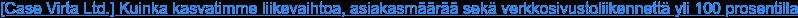 [Case Virta Ltd.] Kuinka kasvatimme liikevaihtoa, asiakasmäärää sekä  verkkosivustoliikennettä yli 100 prosentilla