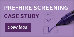Pre-hire screening case study