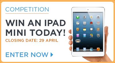 Win an IPad Mini today