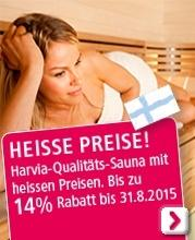 Harvia-Qualitäts-Sauna Aktion Sommer 2015