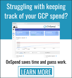manage your GCP spend with OnSpend
