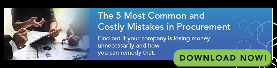 5 Most Common Procurement Mistakes