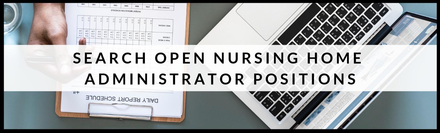 Nursing Home Administrator Jobs