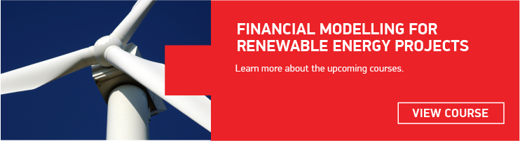 Financial modelling for renewable energy projects training course