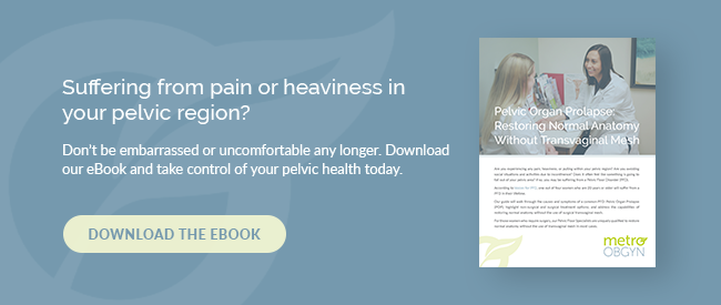 Suffering from pain or heaviness in your pelvic region? Don't be embarrassed or uncomfortable any longer. Download our eBook and take control of your pelvic health today.