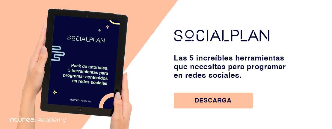 Social Plan Pack Tutoriales Contenidos Redes Sociales Inturea Academy CTA