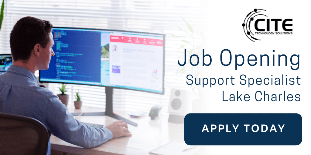 Job Opening Support Specialist Lake Charles