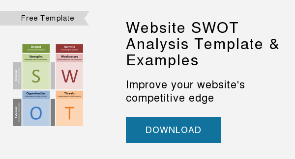 Free Worksheet   Website SWOT Analysis Worksheet  Improve your website's competitive edge  DOWNLOAD