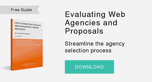 Free Guide   Evaluating Web Agencies and Proposals  Streamline the agency selection process  DOWNLOAD