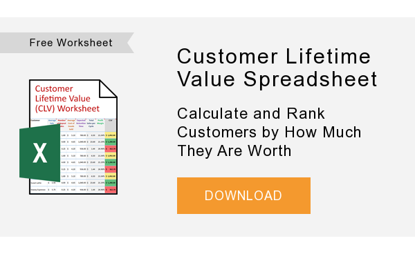 FreeWorksheet   Customer Lifetime Value Spreadsheet  Calculate and Rank Customers by How Much They Are Worth  DOWNLOAD