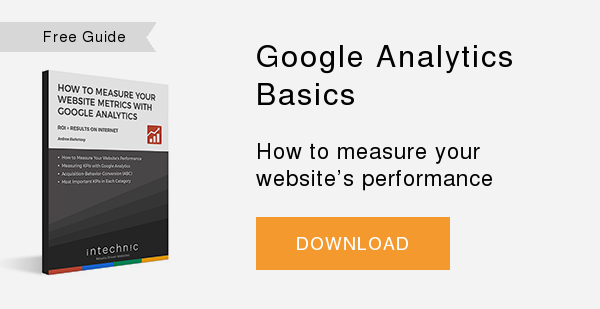 Free Guide   Google Analytics  Basics  How to measure your website's performance  DOWNLOAD