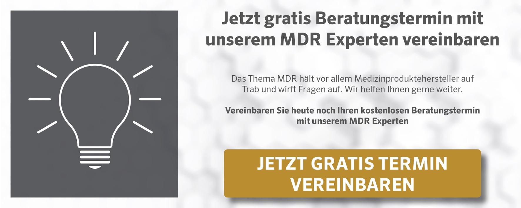 Gratis MDR Beratungstermin vereinbaren