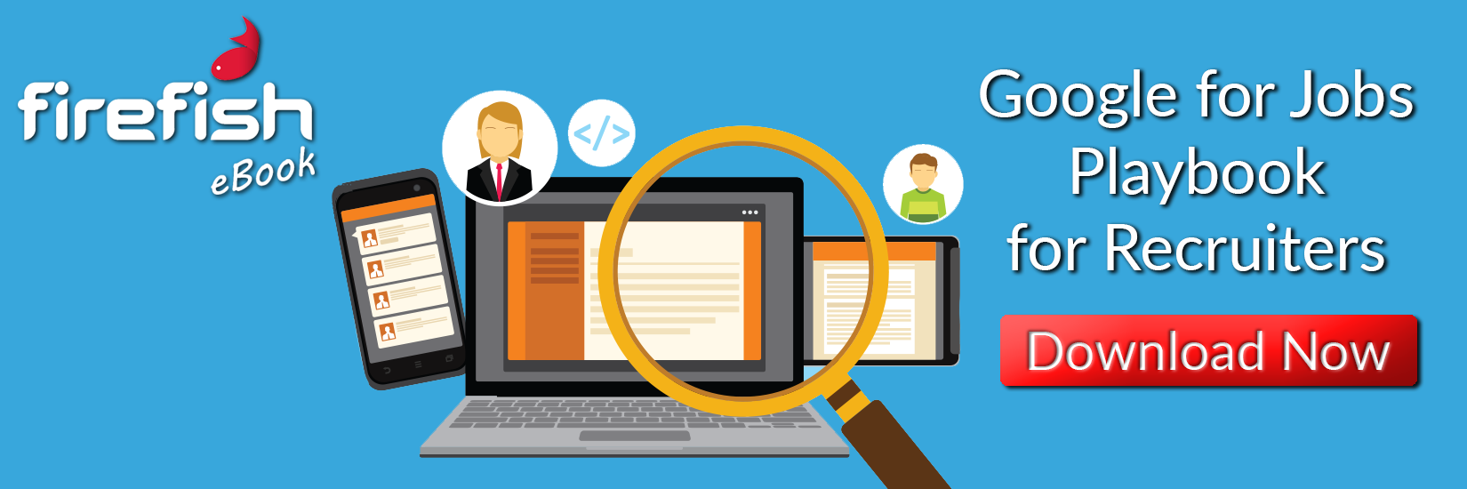online job search with magnifying glass