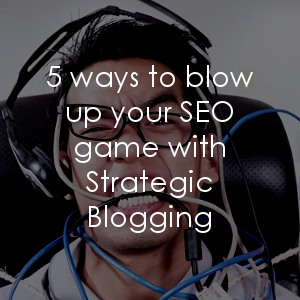 Are you aware of the implications your blogging strategy has on your ability to build credibility through SEO? Yeah, it's huge.