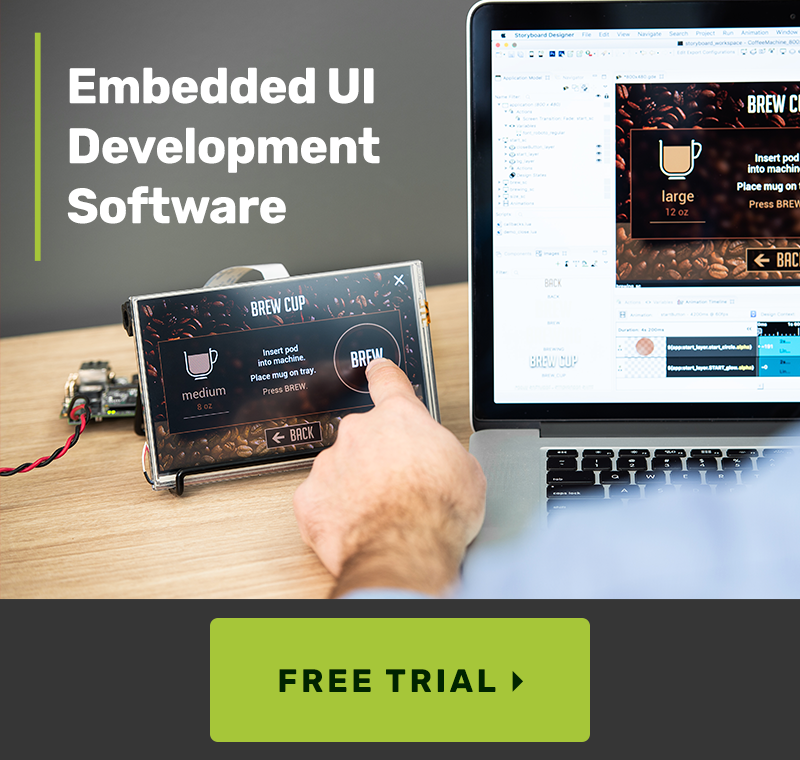 free trial embedded ui development software