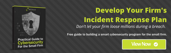 Develop your firm's incident response plan.