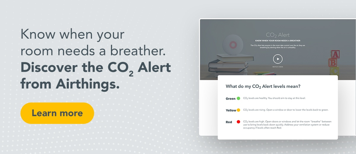 Airthings for Business CO2 alert