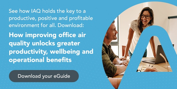 Download your eGuide, how improving office air quality unlocks greater productivity, wellbeing and operational benefits