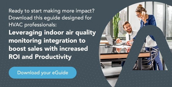 Download you eGuide: Leveraging indoor air quality monitoring integration to boost sales with increased ROI and productivity