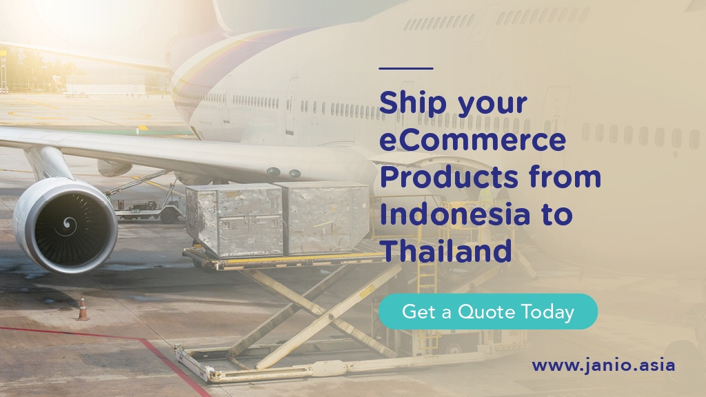Unit Load Devices being loaded onto a plane - Ship your eCommerce Products from Indonesia to Thailand