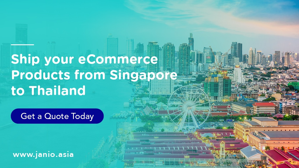 Aerial view of Bangkok - Ship your eCommerce Products from Singapore to Thailand