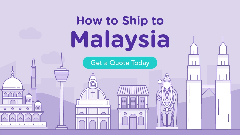 How to Ship to Malaysia with illustrations of Malaysia's famous landmarks