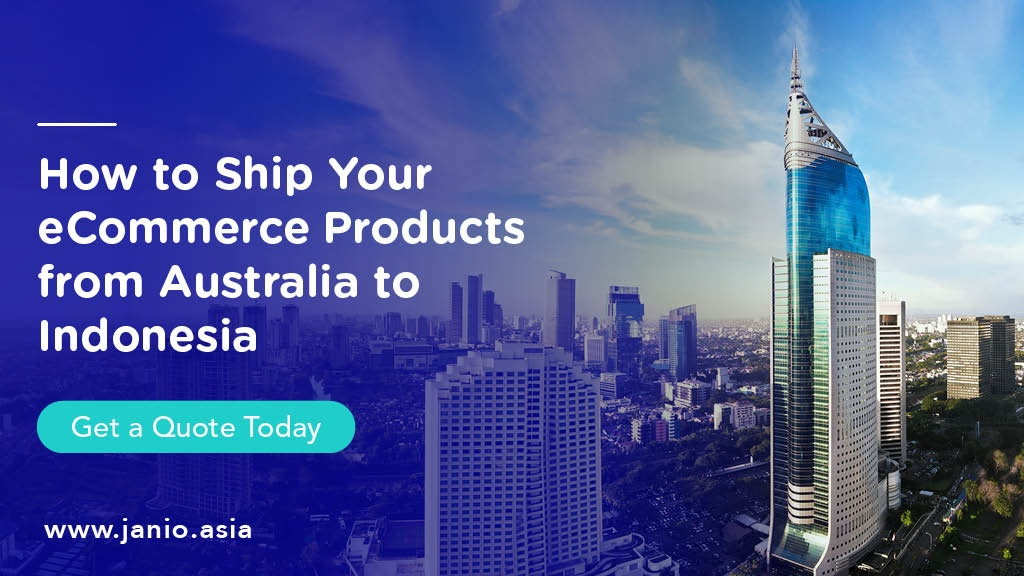 Aerial view of Jakarta - Ship your eCommerce Parcels from Australia to Indonesia with Janio