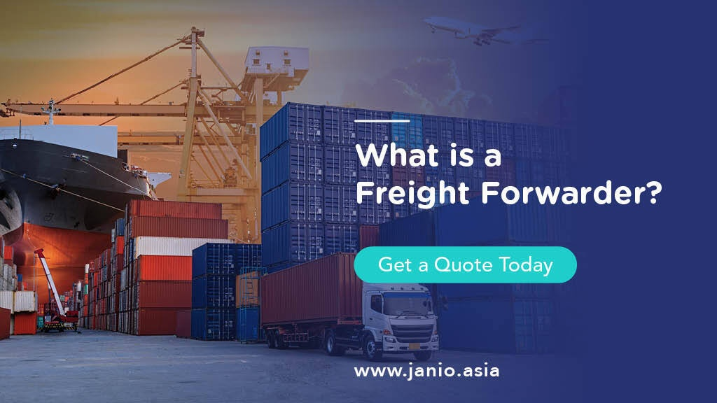 Air freight, sea freight and a container truck