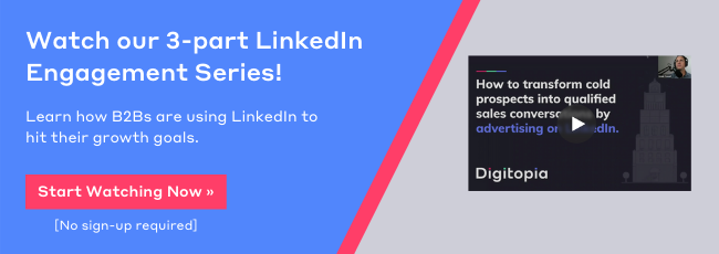 LinkedIn Webinar Engagement Series Banner