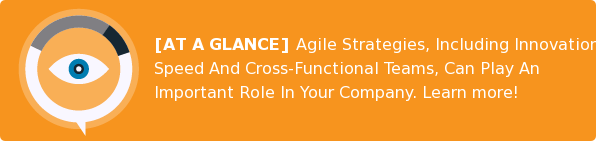 [AT A GLANCE] Agile Strategies, Including Innovation, Speed And  Cross-Functional Teams, Can Play An Important Role In Your Company. Learn more!