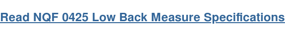 Read NQF 0425 Low Back Measure Specifications
