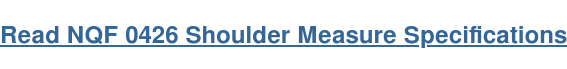 Read NQF 0426 Shoulder Measure Specifications