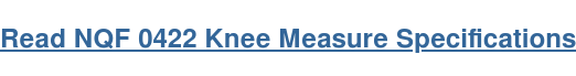 Read NQF 0422 Knee Measure Specifications