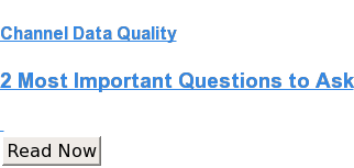 Channel Data Quality  2 Most Important Questions to Ask    Read Now