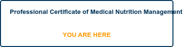 Professional Certificate of Medical Nutrition Management  YOU ARE HERE