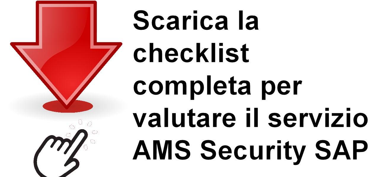 Scarica la checklist SAP AMS
