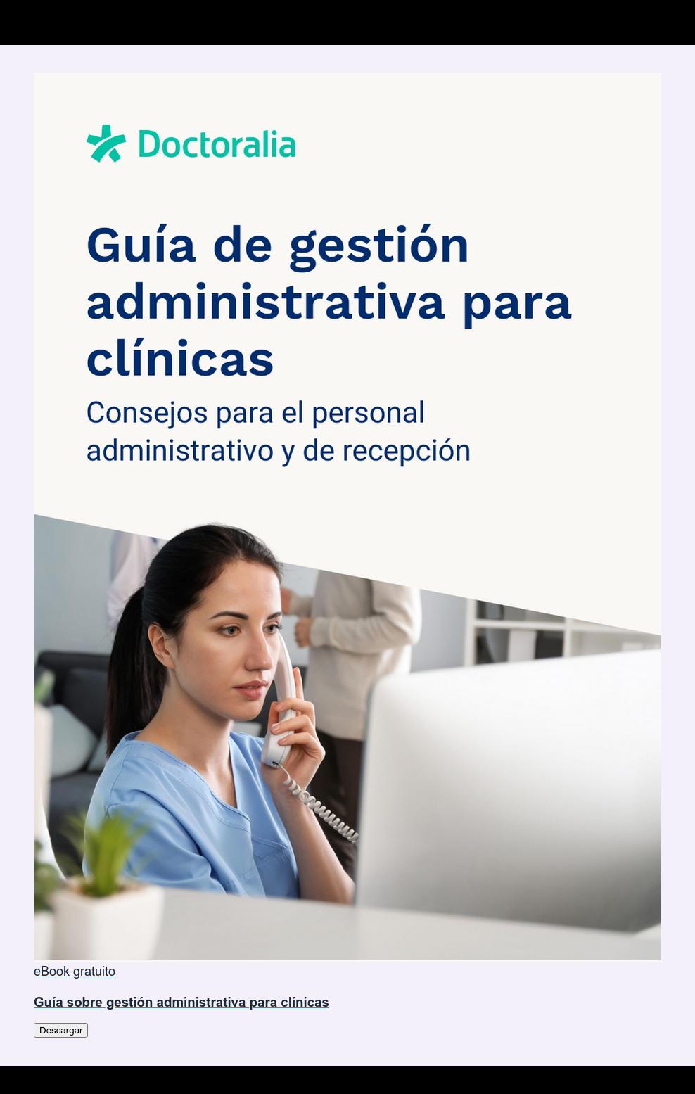 eBook gratuito  Guía sobre gestión administrativa para clínicas Descargar