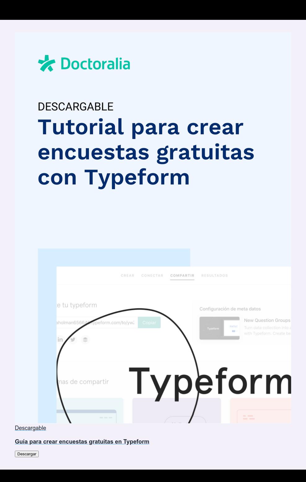 Descargable  Guía para crear encuestas gratuitas en Typeform Descargar