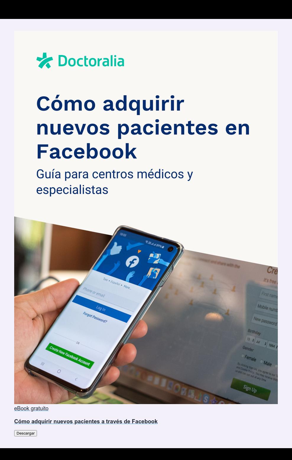 eBook gratuito  Cómo adquirir nuevos pacientes a través de Facebook Descargar