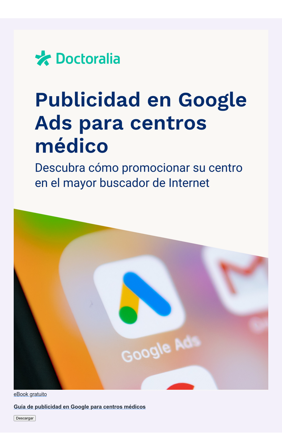 eBook gratuito  Guía de publicidad en Google para centros médicos Descargar