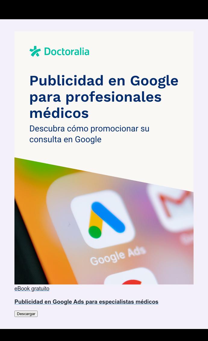 eBook gratuito  Publicidad en Google Ads para especialistas médicos Descargar