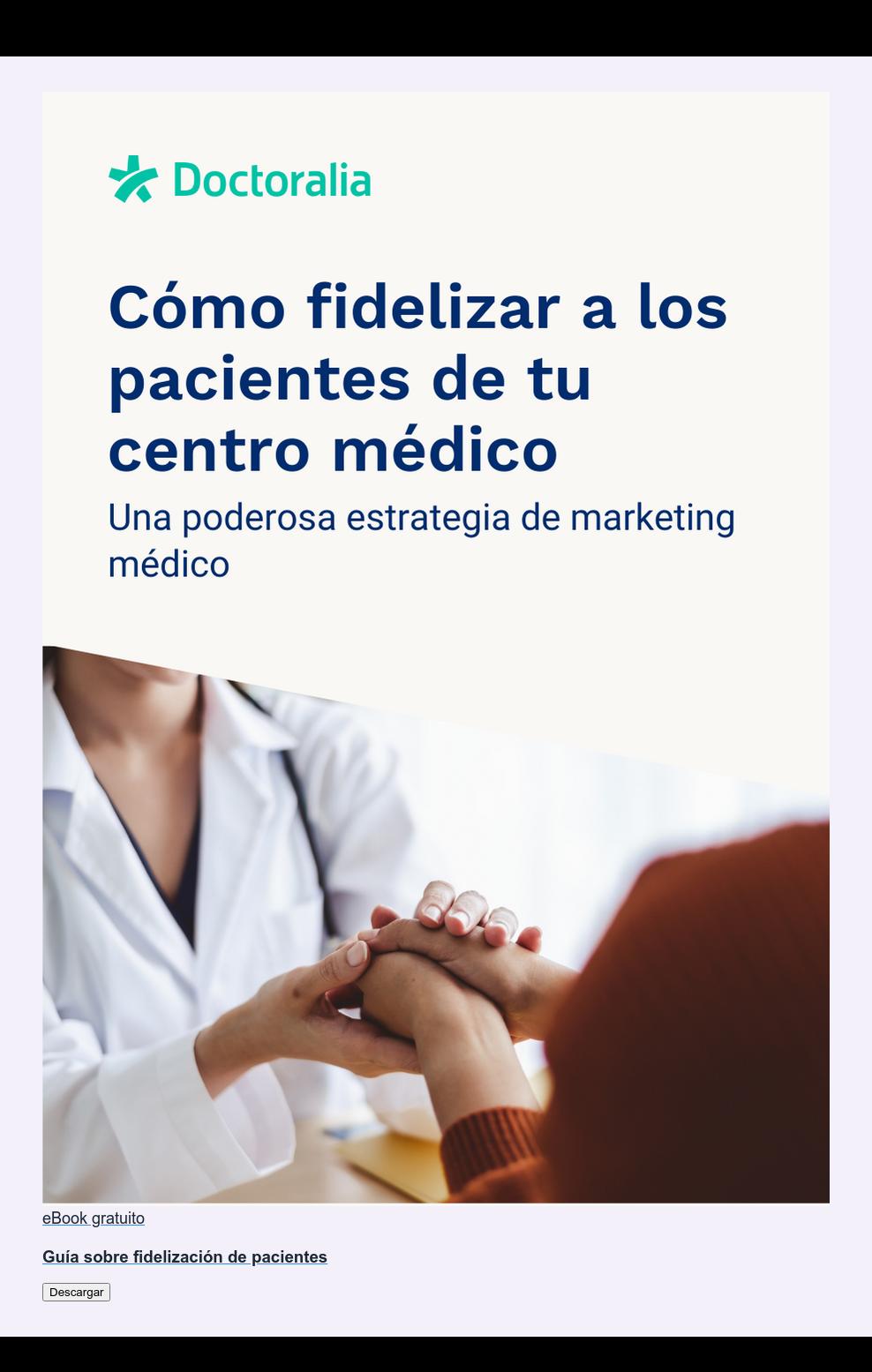 eBook gratuito  Guía sobre fidelización de pacientes Descargar