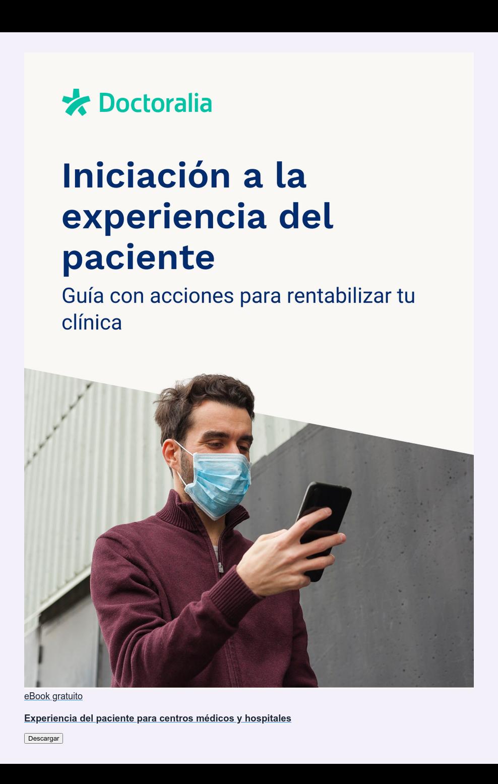 eBook gratuito  Experiencia del paciente para centros médicos y hospitales Descargar