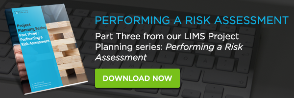 performing a risk assessment lims project management