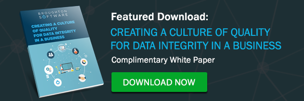 creating a culture of quality for data integrity in a business