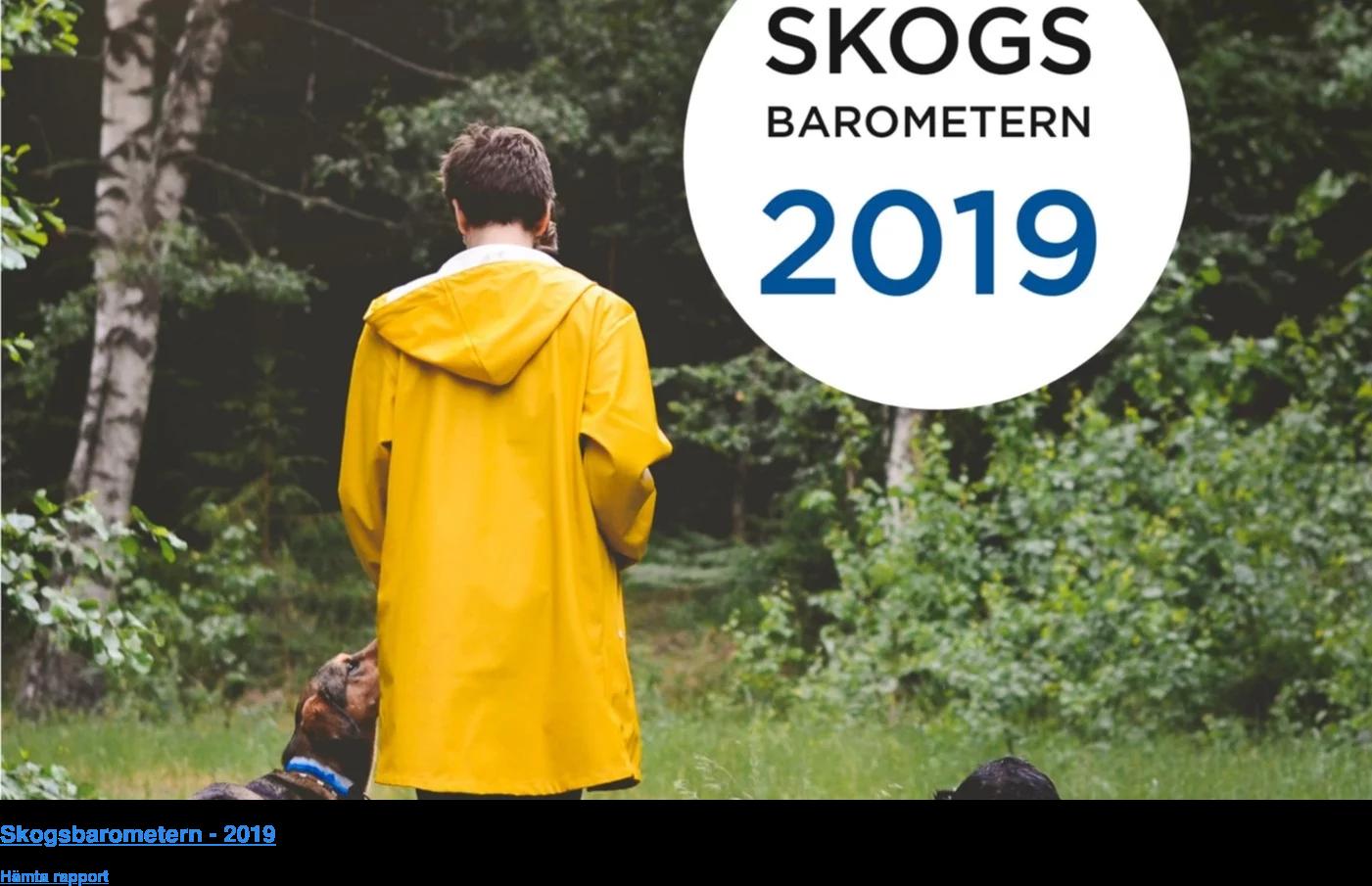 Skogsbarometern - 2019  Hämta rapport