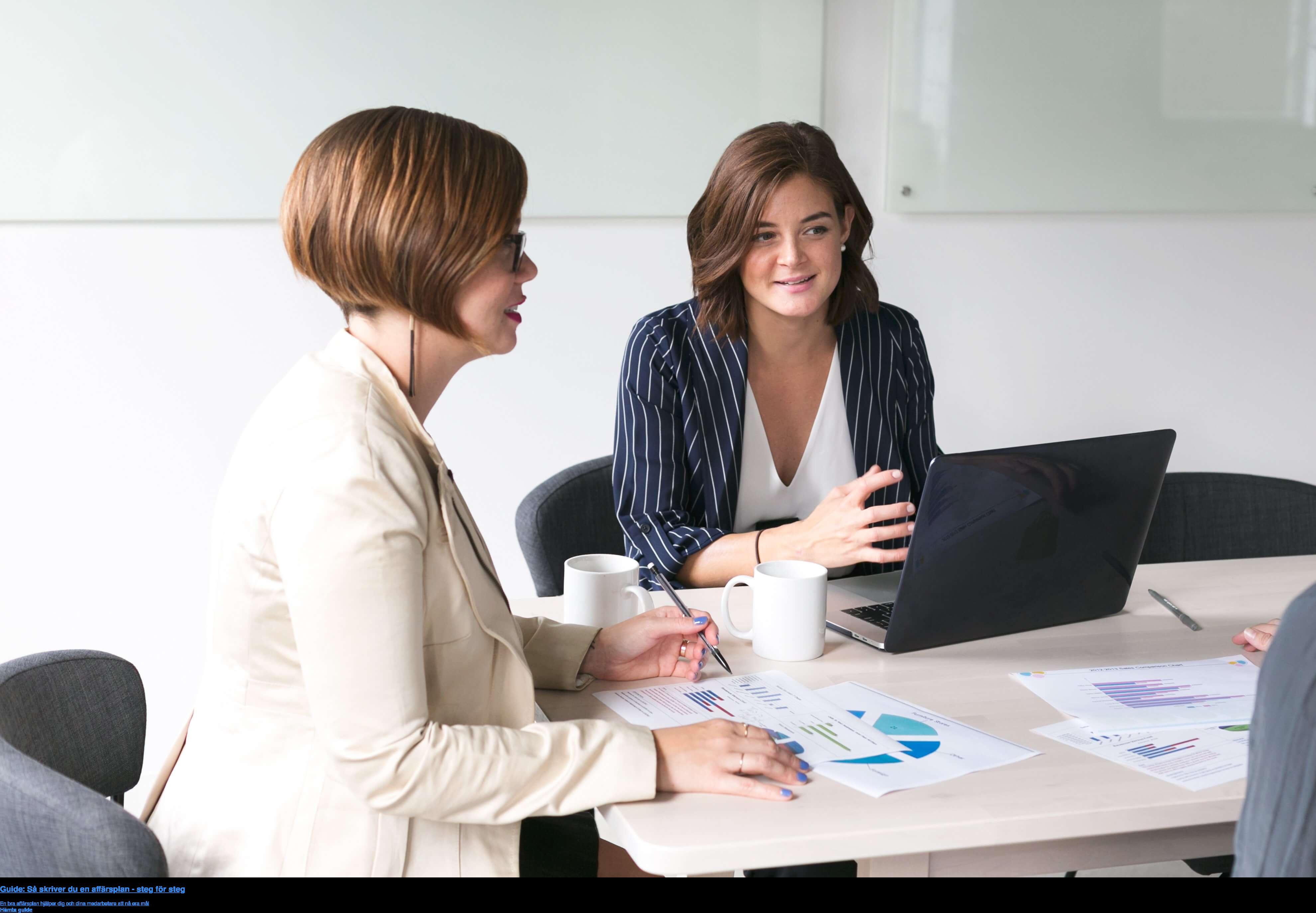 Guide: Så skriver du en affärsplan - steg för steg  En bra affärsplan hjälper dig och dina medarbetare att nå era mål Hämta guide