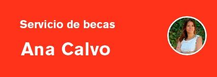 Solicita cita previa con Ana Calvo del Servicio de Alumnos y Becas